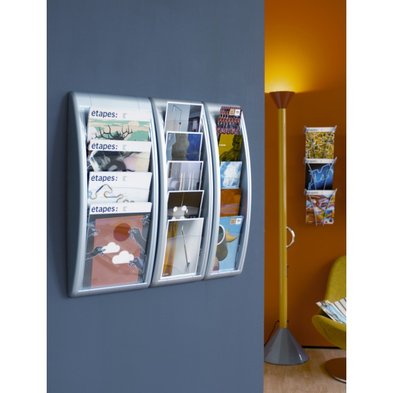 1 3 A4 Wall Leaflet Holder Discount Displays