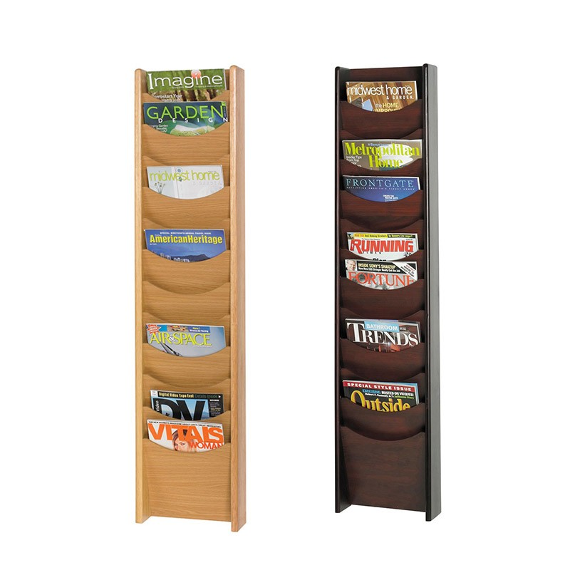 Exhibition Shell Stands : Wooden wall mountable leaflet holders discount displays