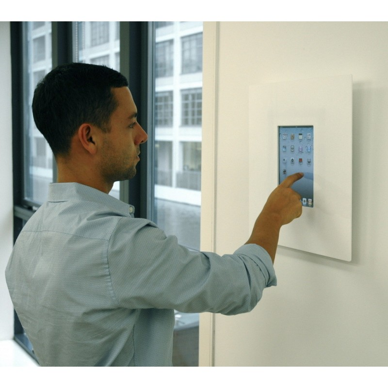 Wall Mounted Tablet Display Black White Various Shapes