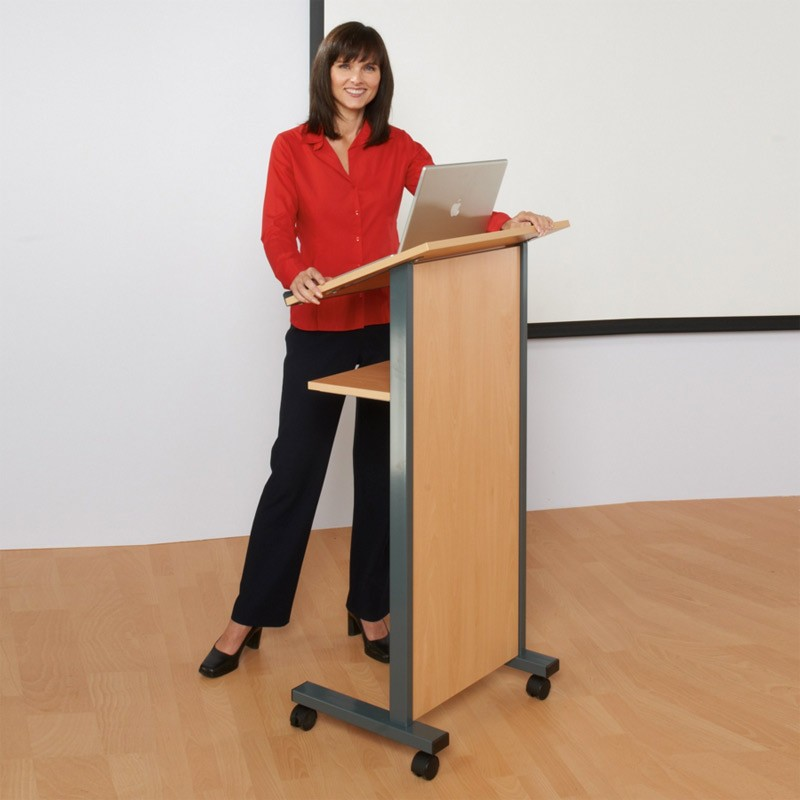 Wheeled Lectern Discount Displays