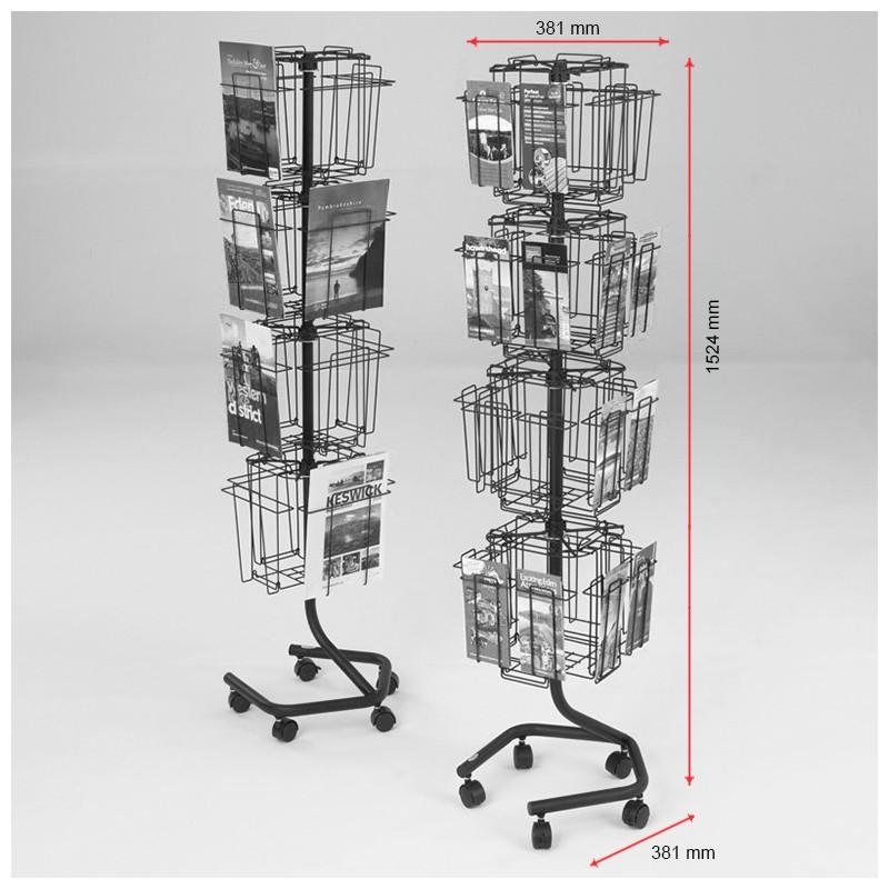 Rotating Wire Literature Rack 16xa4 Discount Displays