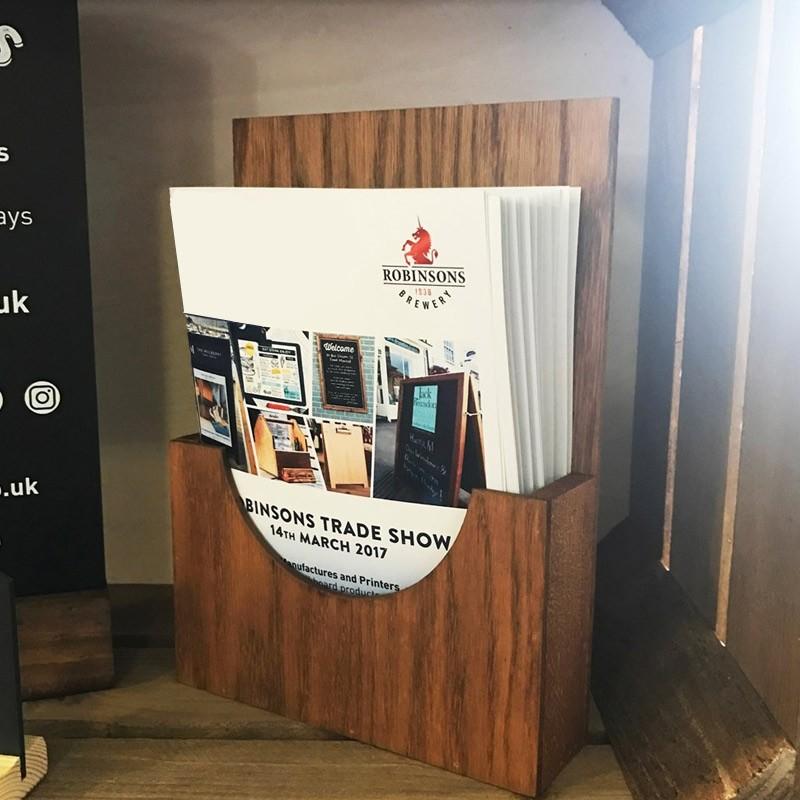 Wooden Brochure Holder Menu Holder A3a4