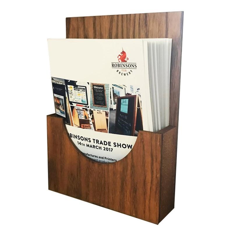 Wooden Brochure Holder Discount Displays