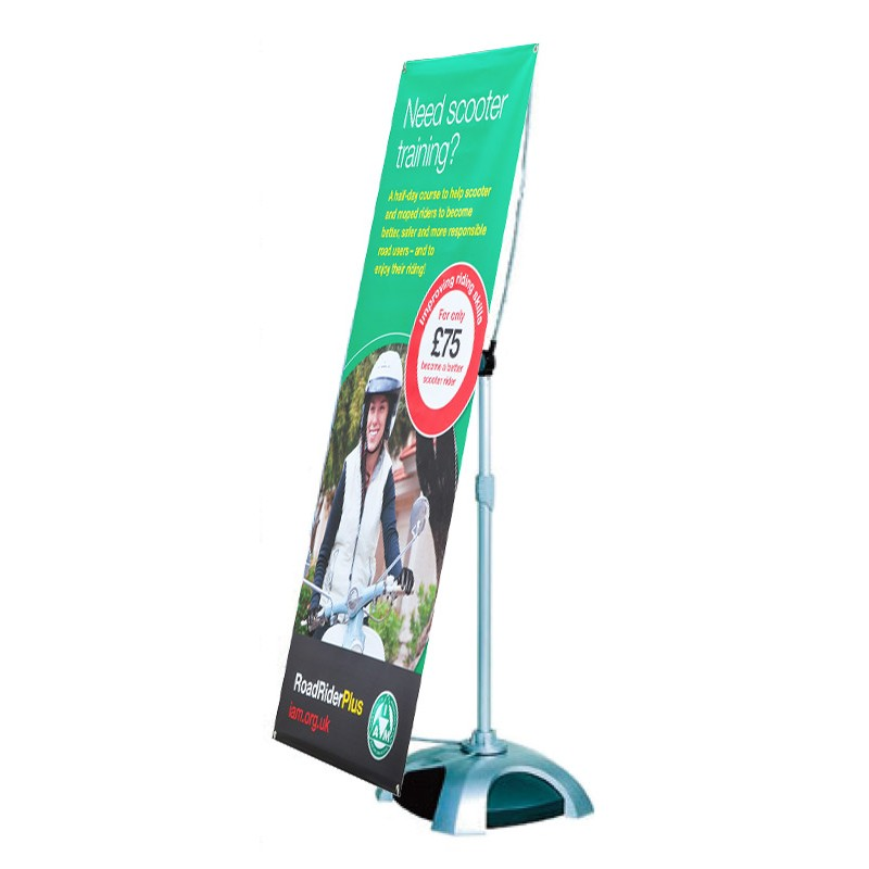 Outdoor Exhibition Booth Design : Banner stand outdoor displays wind resistant weatherproof