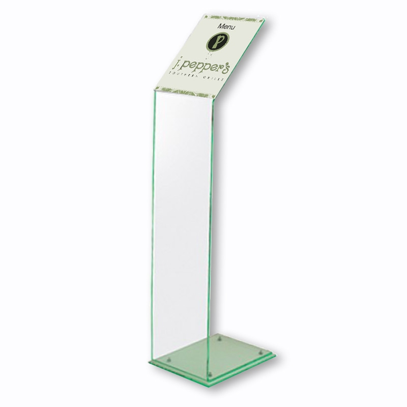 A4 Acrylic Menu Holder - Free Standing Literature Display Stand