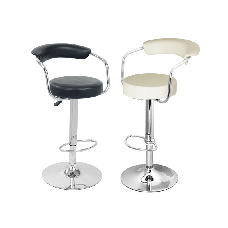Counter Height Stools Uk : Bar Stools UK - Black and Cream Faux Leather Bar Stool