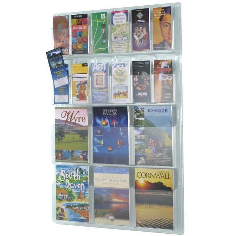 Wall Mounted Acrylic Leaflet Holder