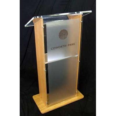 Stage Lectern Wood Amp Acrylic Speech Platform