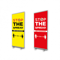 Stop The Spread Roller Banner Stand
