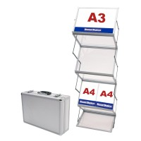 Compact A3 Folding Literature Display