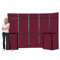16 Panel Slimflex velcro display boards
