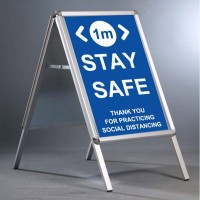 "Social Distancing 20""x30"" A Board - INCLUDING 2m Stay Safe posters"