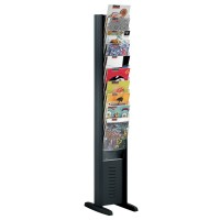 10 Pocket Free Standing Brochure Rack