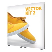 Vector 2m wide fabric Back Wall