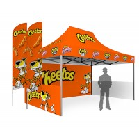 Custom Printed Tent with Feather Flags
