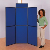 6 Panel Folding Display Board - Plastic Frame