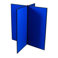 4 Panel Jumbo Slimflex Display - Plastic Frame