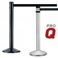 Heavy Duty 4m Retractable Barrier - Silver or Black