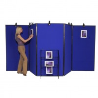 5 Panel Jumbo Folding Display - Plastic Frame