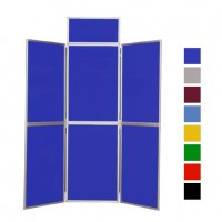 6 Panel Folding Display Board - Aluminium Frame