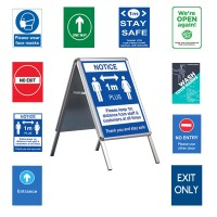 "Social Distancing 20""x30"" A Board - INCLUDES POSTERS"