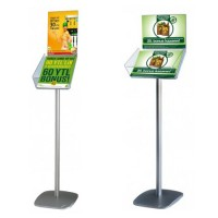 Brochure Dispenser Stand with header pocket