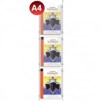 3x A4 Leaflet Holder Kit