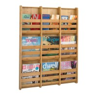 Bamboo Wall Mounted Literature Dispenser