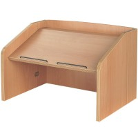 Folding Beech Effect Desktop Lectern