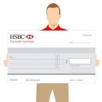 Big Promotional Cheques - Bank Logo