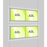 2 x A3 Double Landscape Illuminated Cable Display