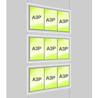 3x A3 Triple Portrait Illuminated Cable Display