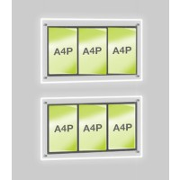 2x A4 Triple Portrait Illuminated Cable Display
