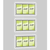 3x A4 Triple Portrait Illuminated Cable Display