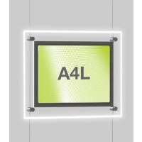 A4 Single Landscape Illuminated Cable Display