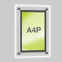 A4 Single Portrait Illuminated Cable Display