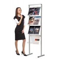 Communicator Floor Standing Brochure Holder Display  8 x A4