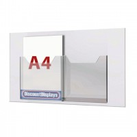 Cable System Leaflet Dispenser - 2 x A4 on A1 Centres