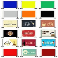 Pre-Designed Cafe Barrier Banners
