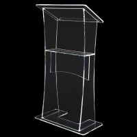 Clear Acrylic Lectern with Internal Shelf