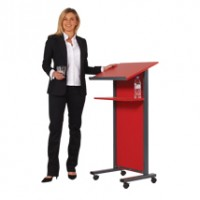Coloured Wood Lectern with Steel Frame