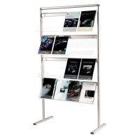 Communicator Floor Standing Brochure Holder 4 x A4