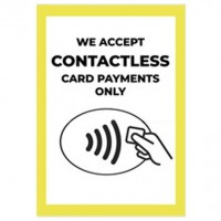 We Accept Contactless Card Payments Only - Pack of 10 - Poster | Sticker | Sign