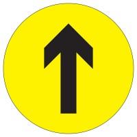 Social Distancing 1 Way Arrow Floor Stickers - Pack of 6