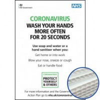 Printed Correx Signs - Pack of 10 - Coronavirus Design 1