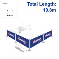 Standard Barrier Kit - 6 Banners / 7 Posts