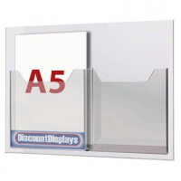 Cable System Leaflet Dispenser - 2 x A5 on A3 Centres