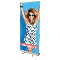 Dragonfly Double Sided Banner Stand