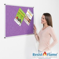 Flame Resistant Aluminium Framed Pin Board