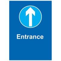 Entrance - Pack of 10 - Poster | Sticker | Sign